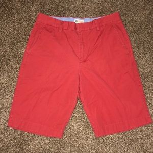 Red J. Crew flat front shorts